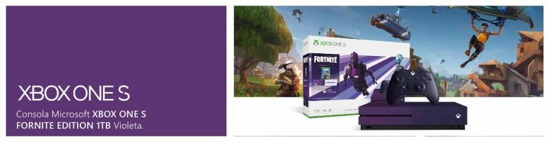 Paquete Xbox One S Fortnite Battle Royale Edición especial