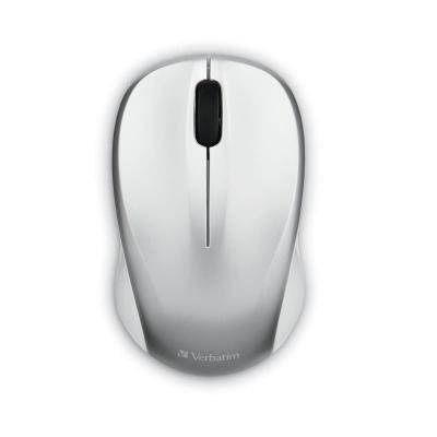 Mouse Verbatim Wireless Silencioso Plata