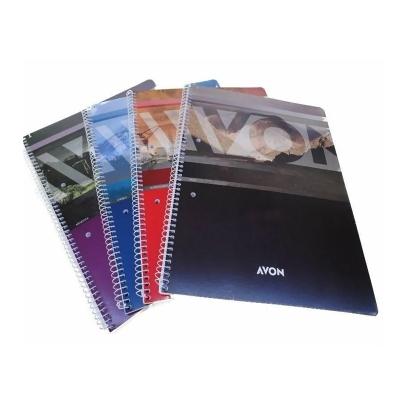 Cuaderno Con Espiral Avon A4 84 Hojas Rayadas Tapa Blanda