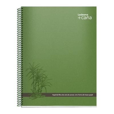 Cuaderno Con Espiral +caÑa A4 84 Hojas Rayadas Tapa Reciclada