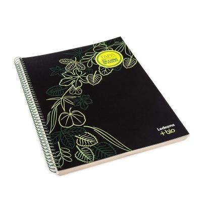 Cuaderno Con Espiral +bio 21x27 84 Hojas Cuadriculadas Tapa Bioplastico