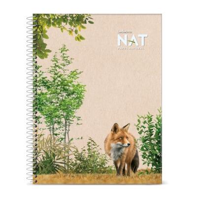 Cuaderno Con Espiral Nat A4 70 Hojas Cuadriculadas Tapa Blanda