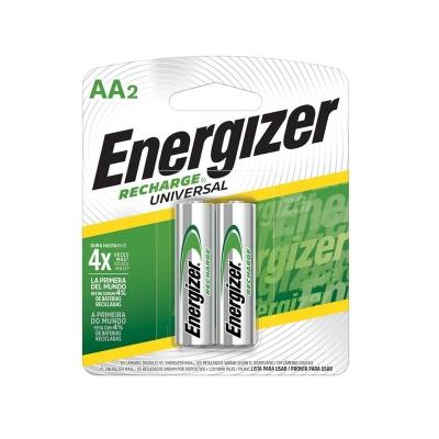 Pilas Recargable Energizer Aa Nh15 2000 Mah Blister X2