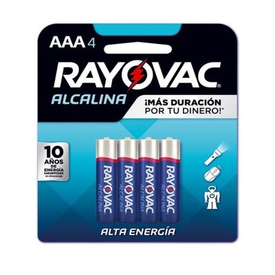 Pila Alcalina Rayovac TamaÑo Aaa Blister X4