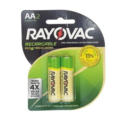 Pila Recargable Aa Rayovac Eco 2100 Mha Blister X2