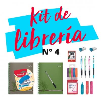 Combo De Libreria M 04: Cuaderno, Abrochadora, Boligrafos, Corrector, Lapiz Mecanico, Resaltadores
