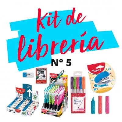 Combo De Libreria L 05: Cuaderno, Abrochadora, Boligrafos, Corrector, Lapiz Mecanico, Resaltadores