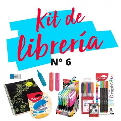 Combo De Libreria L 06: Cuaderno, Abrochadora, Boligrafos, Corrector, Lapiz Mecanico, Resaltadores