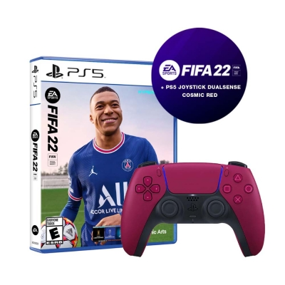Fifa 22 Ps5 + Joystick  Ps5 Cosmic Red